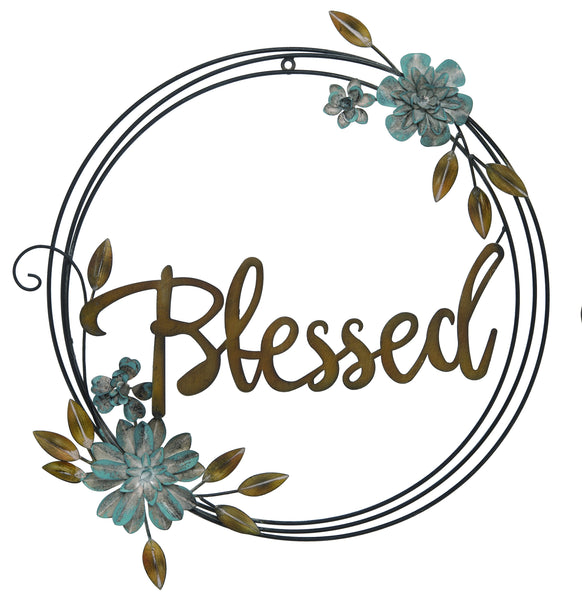 Transpac - Metal Blessed Word Based Wall Art
