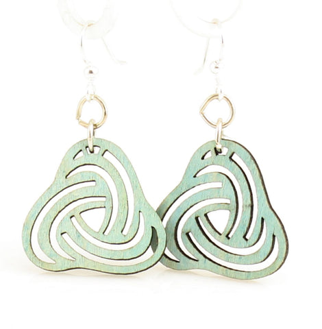 Green Tree Jewelry - Overlapping Petal Blossoms Earrings