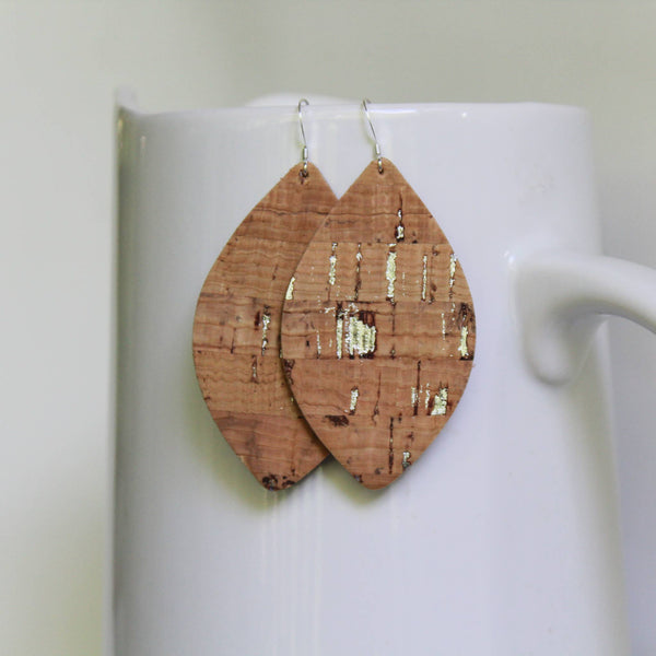 Cork Petal Earrings