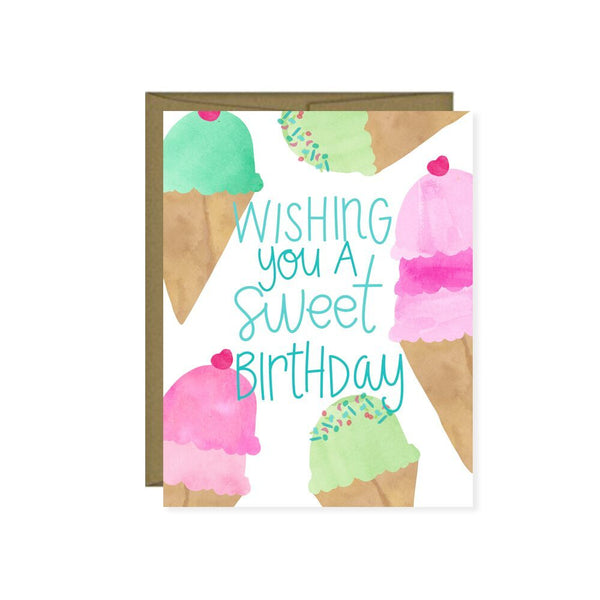Pen & Paint - Wishing You A Sweet Birthday Ice Birthday Card