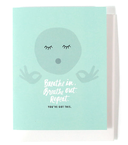 Thimblepress - Breathe In Greeting Card