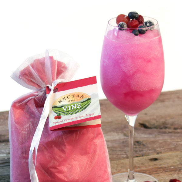 Nectar Of The Vine - 5-Pack Natural Cranberry Acai Wine Slushy Mix