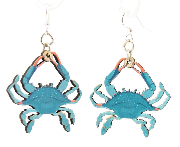 Green Tree Jewelry - Blue Crab Earrings