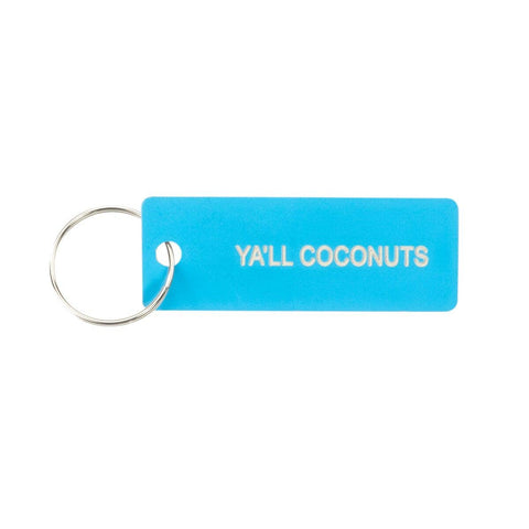 About Face Designs - Y'all Coconuts Keychain