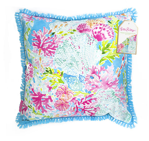Lilly Pulitzer Indoor/Outdoor Pillow Coral Cay