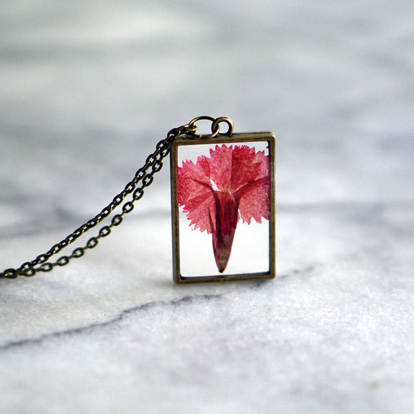 The Pretty Pickle - January Birth Flower Necklace