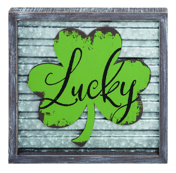 Transpac - St. Patrick's Day Corrugated Lucky Frame