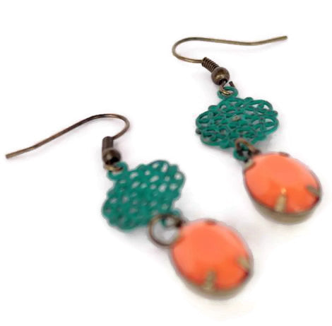 Gleeful Peacock - Days of Yore Earrings