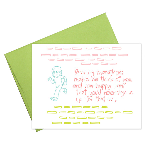 Colette Paperie - Running Marathons Card