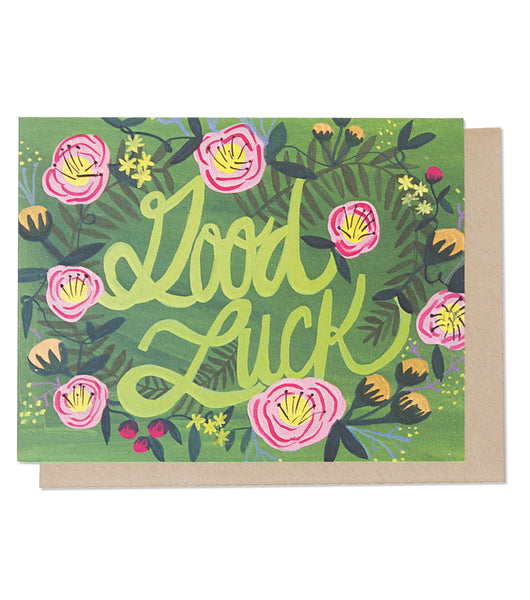 Thimblepress - Good Luck Floral Single Card