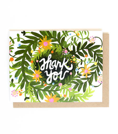 Thimblepress - Thank You Spring Blooms Single Card