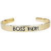 Expressions Bracelets - Boss Mom Mantra Cuff