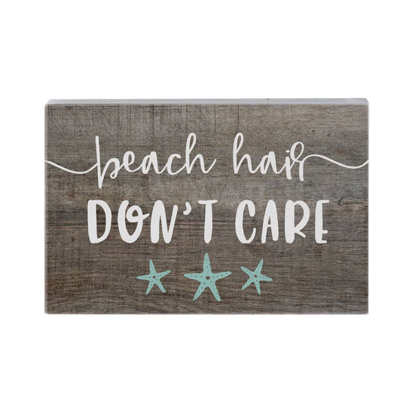 Beach Hair Don't Care wood sign