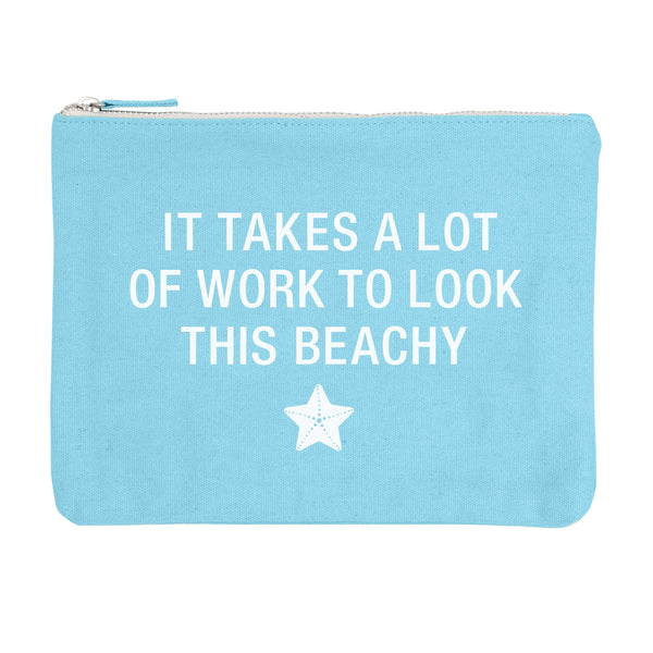 About Face Designs - Beachy Cosmetic Pouch