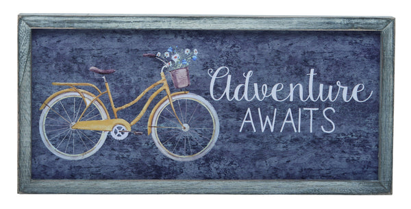 Transpac - Adventure Awaits Distressed Wall Art