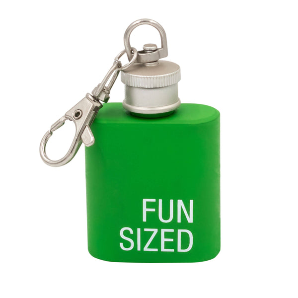 About Face Designs - Fun Sized Key Ring Flask