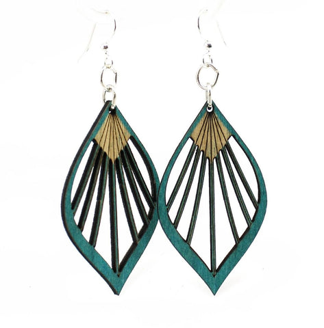 Green Tree Jewelry - Fan Leaf Palm Earrings
