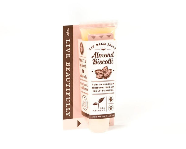 Live Beautifully - Lip Balm Jelly - Almond Biscotti