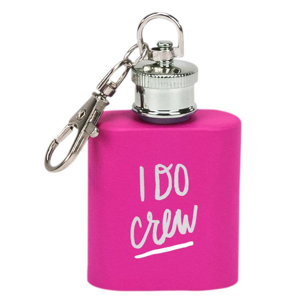 About Face Designs - I Do Crew Key Ring Flask