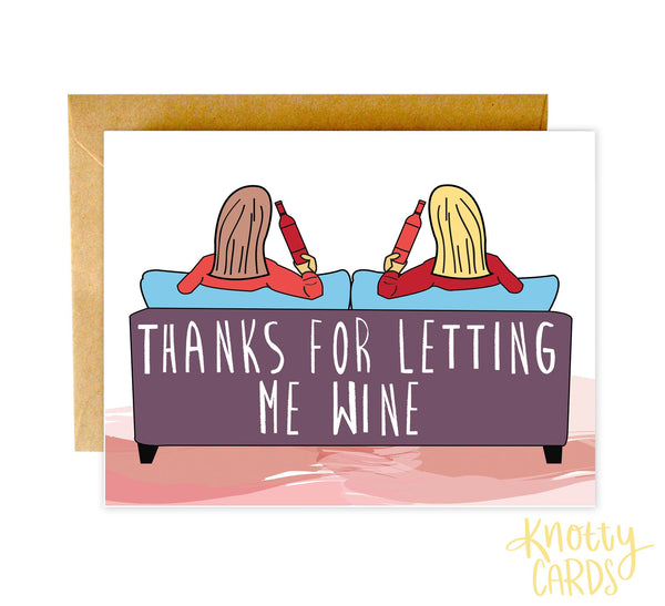 Knotty Cards - Thanks Wine Card