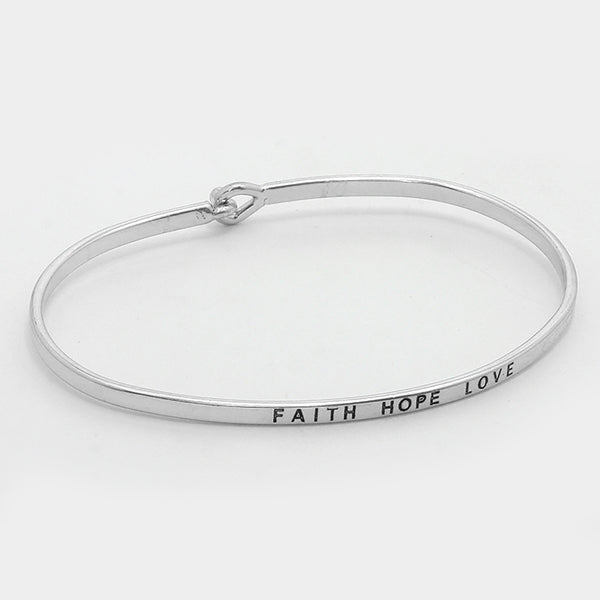 "Clarabands ""Faith Hope Love"" Bracelet"