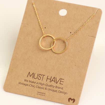 Fame Accessories - Circle Link Necklace