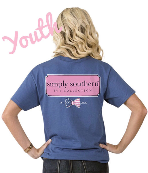 Simply Southern YOUTH Ivy Collection Preppy Tee