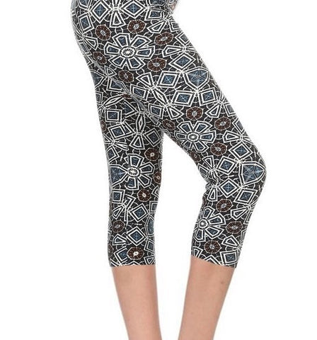 Geo Cropped LUSH Leggings