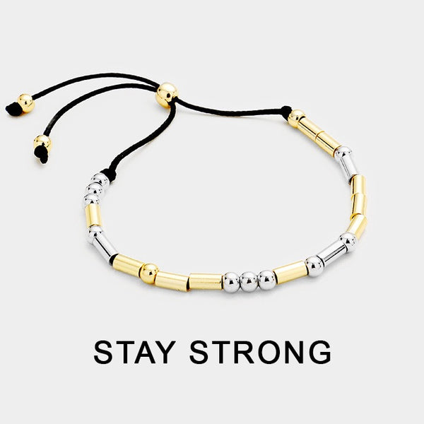 Ellicott City Stay Strong Morse Code Bracelet