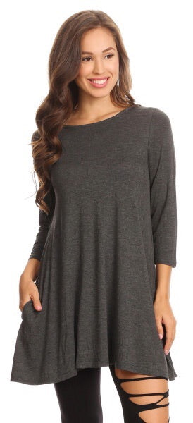 Grey Basic Tunic
