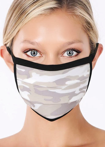Faded Camo Cotton Unisex Face Mask