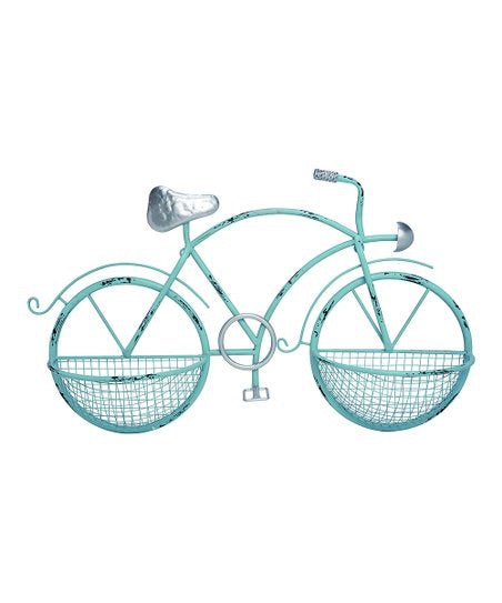 Transpac - White Wall Mounted Bike Planter