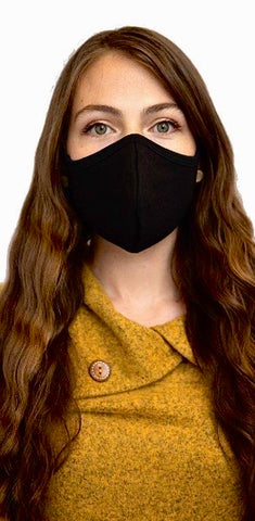 Classic black face mask - adjustable