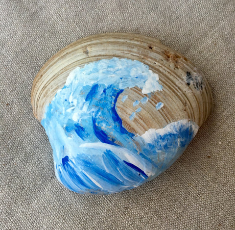 Hand-painted Wave Shell
