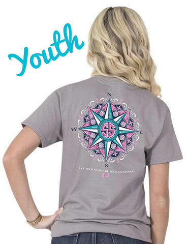 Simply Southern YOUTH Compass Tee