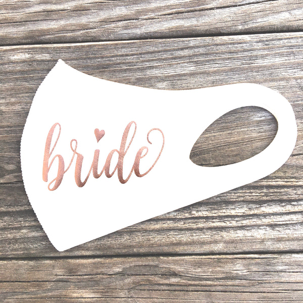 Bride Handmade face mask