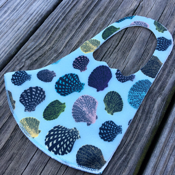 Kids Face Mask - mint seashells