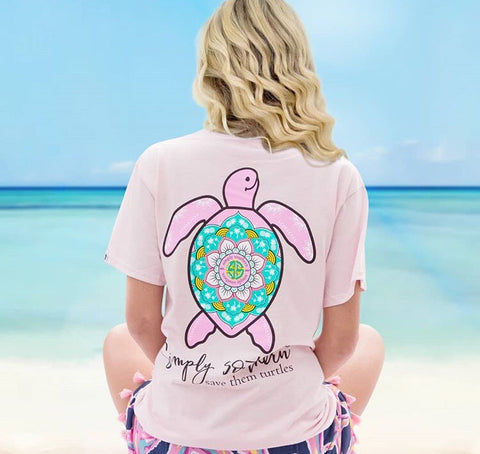 Simply Southern Save the Turtles Pink Tee