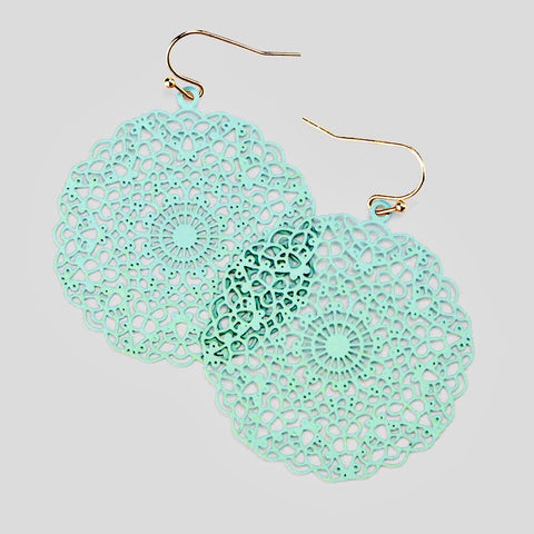 CeeCee medallion earrings - mint