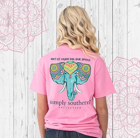 Simply Southern Elephant Pink Tee