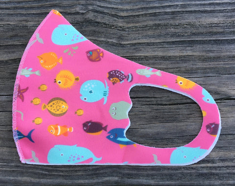 Kids Face Mask - pink under the sea