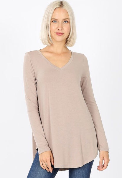 Willow Perfect Layering Tee - latte