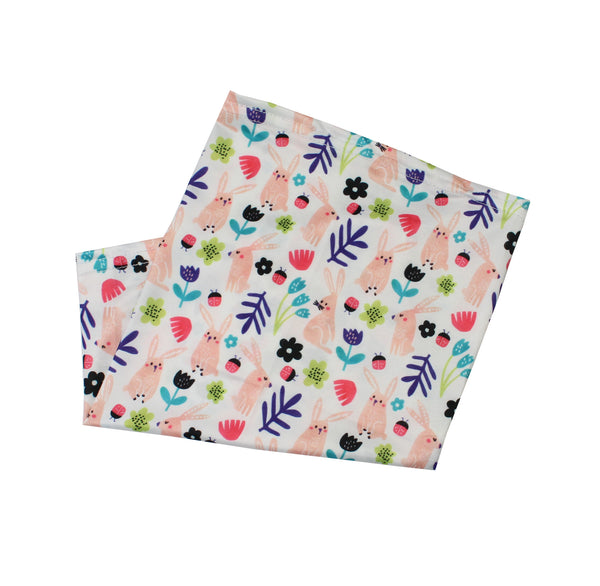 Children's Neck Gaiter/face mask - Bunny floral