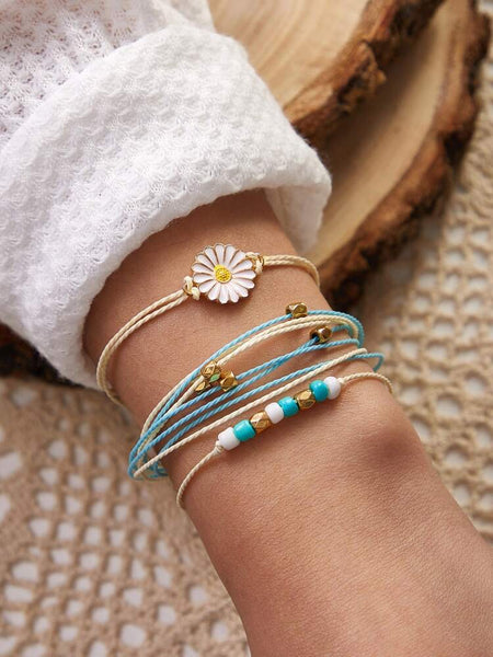 Daisy set of 3 adjustable bracelets
