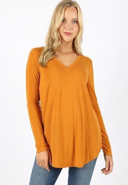 Willow Perfect Layering Tee - mustard