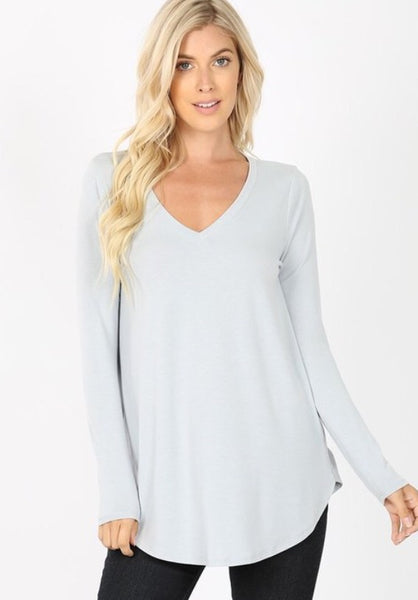 Willow Perfect Layering Tee - grey mist