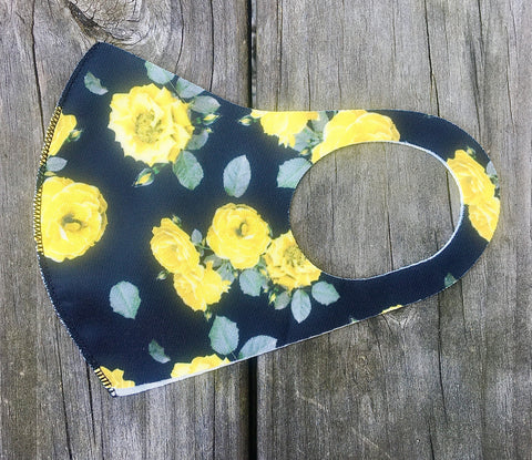Face Mask - Yellow roses