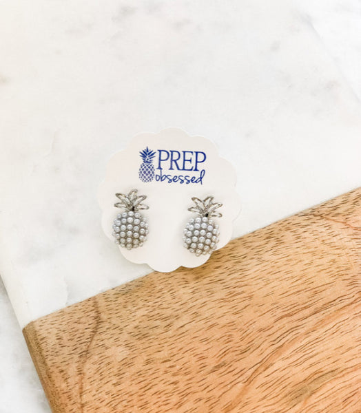 Prep Obsessed - Pineapple Pearl Pop Studs