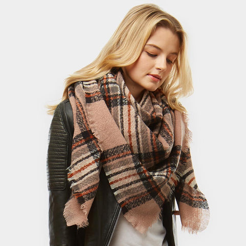 Autumn sunset blanket scarf