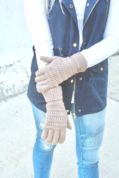 CC brand smart touch gloves - tan